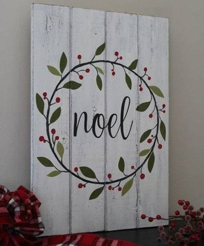 Create a Holiday Sign at Crafts Uncorked