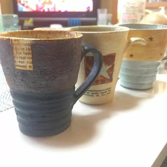 数年前に買って気に入ってた作家さんのカップを再びゲット #益子陶器市 #conceptif