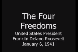 Franklin D. Roosevelt Four Freedoms Speech