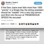 Trump Quote-Joke Dow JOANS is NOT the Dow Jones