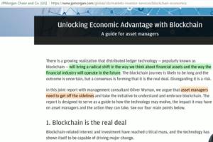 JP Morgan Blockchain report