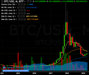 Bitcoin monthly trend