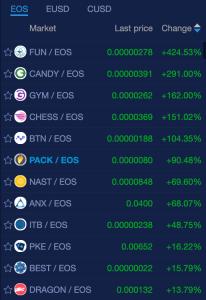EOS cryptomarket