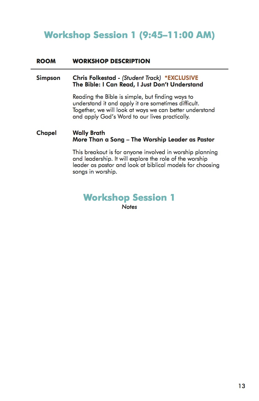 NEXT Conference 2014 Workbook Session 1-2