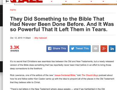 Jesus-Centered Bible featured on The Blaze