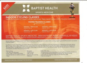 I did this indoor bike clinic last year and learned a lot and got in good workouts. This is an opportunity to find your inner chain ring and rock it out.