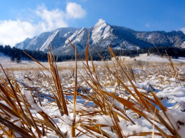 Flatirons in the Winter