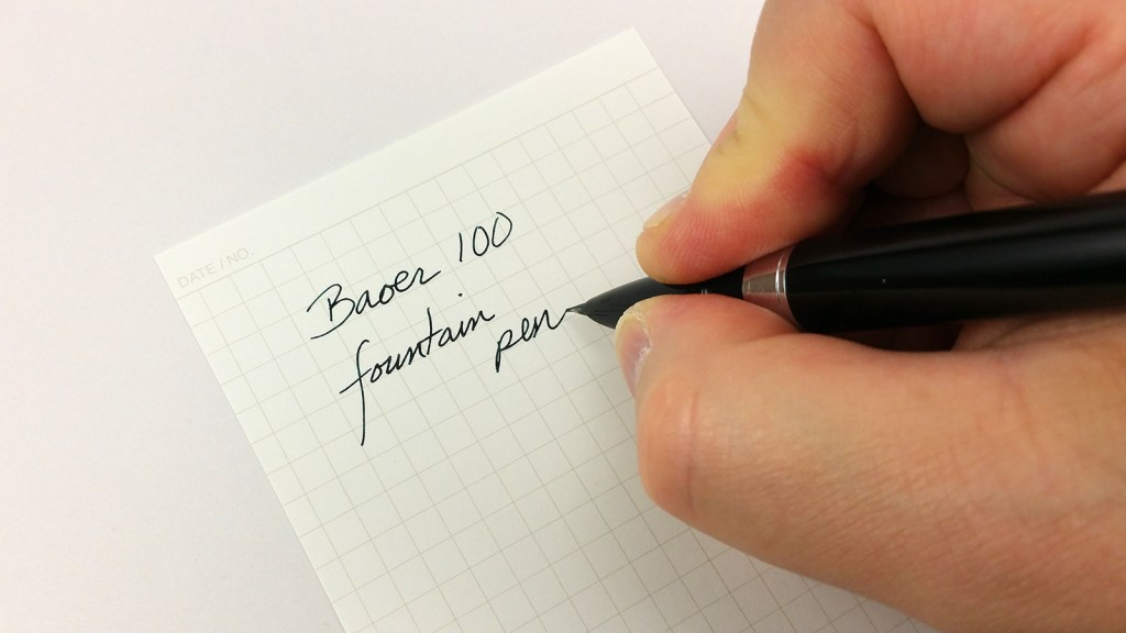 Baoer 100 Fountain Pen Writing Sample