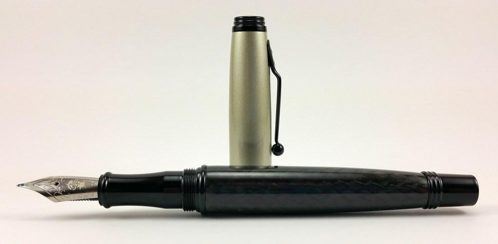 Monteverde Invincia Fountain Pen with Goulet EF Nib Uncapped