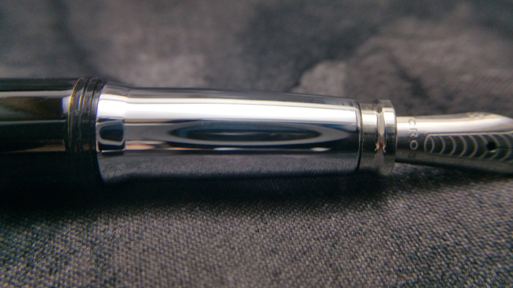 The Cross Dubai Fountain Pen section...slippery little biznatch that it is