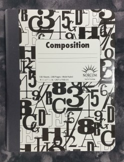 The cover of the Norcom Composition Book from Vietnam
