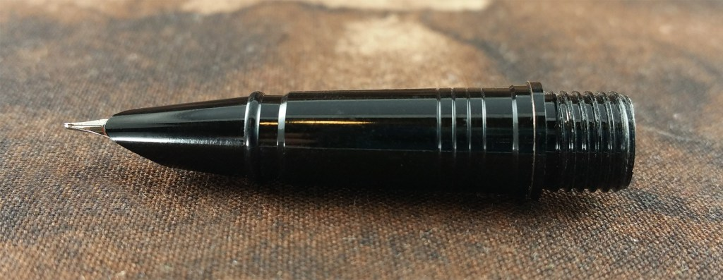 Close-up shot of the Jinhao 3005 Fountain Pen section and nib housing