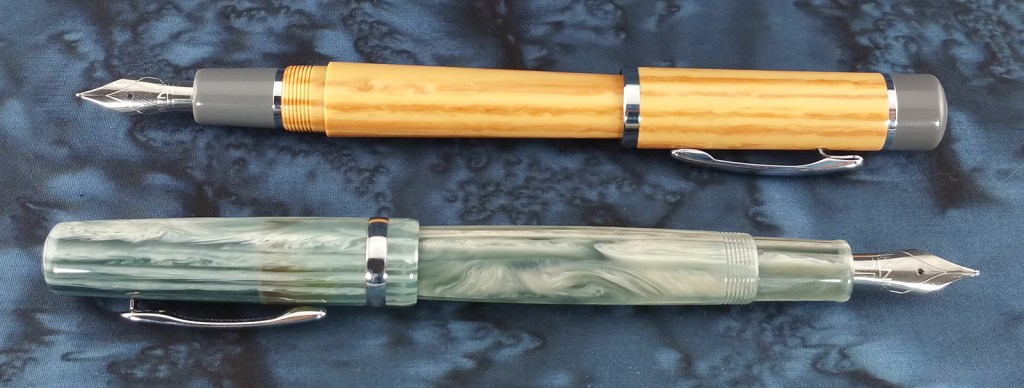 Think Couture Fountain Pens (Vacation and Violino) Posted and laying side-by-side