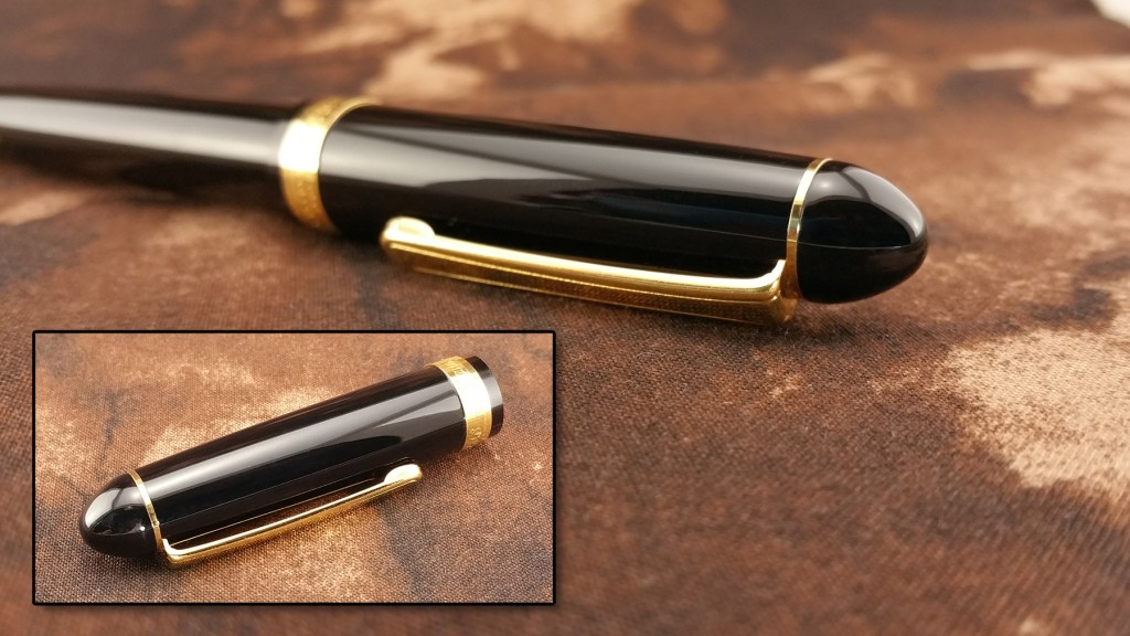 Two views of the Platinum 3776 Balance Maestro Fountain Pen Cap