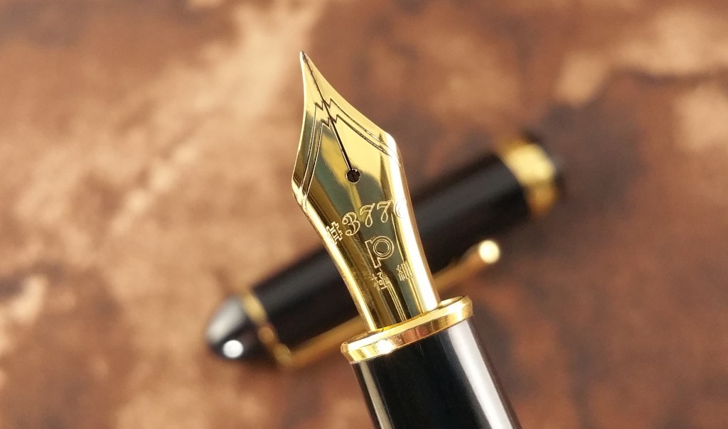 Close-up shot of the Platinum 3776 Balance Maestro Fountain Pen Nib