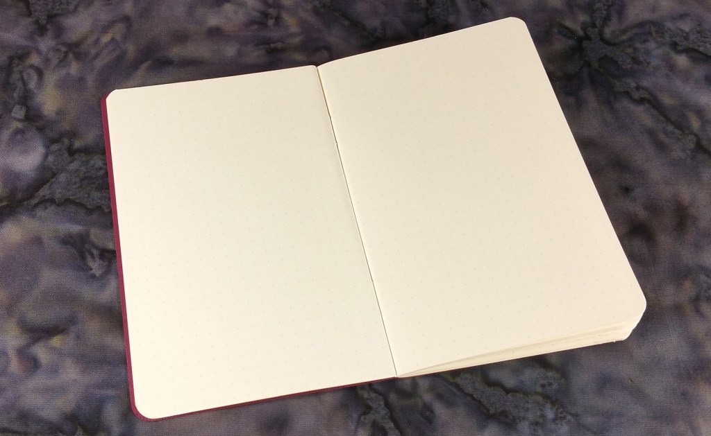 A Story Supply Co. Pocket Staple Edition 407 Notebook showing how it can lie flat