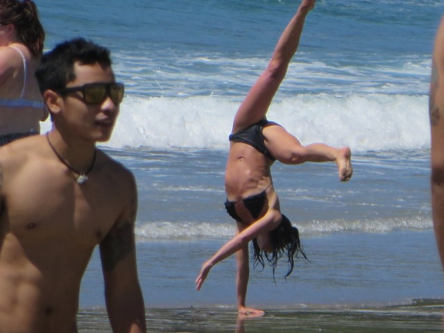 Me doing a one-handed cartwheel
