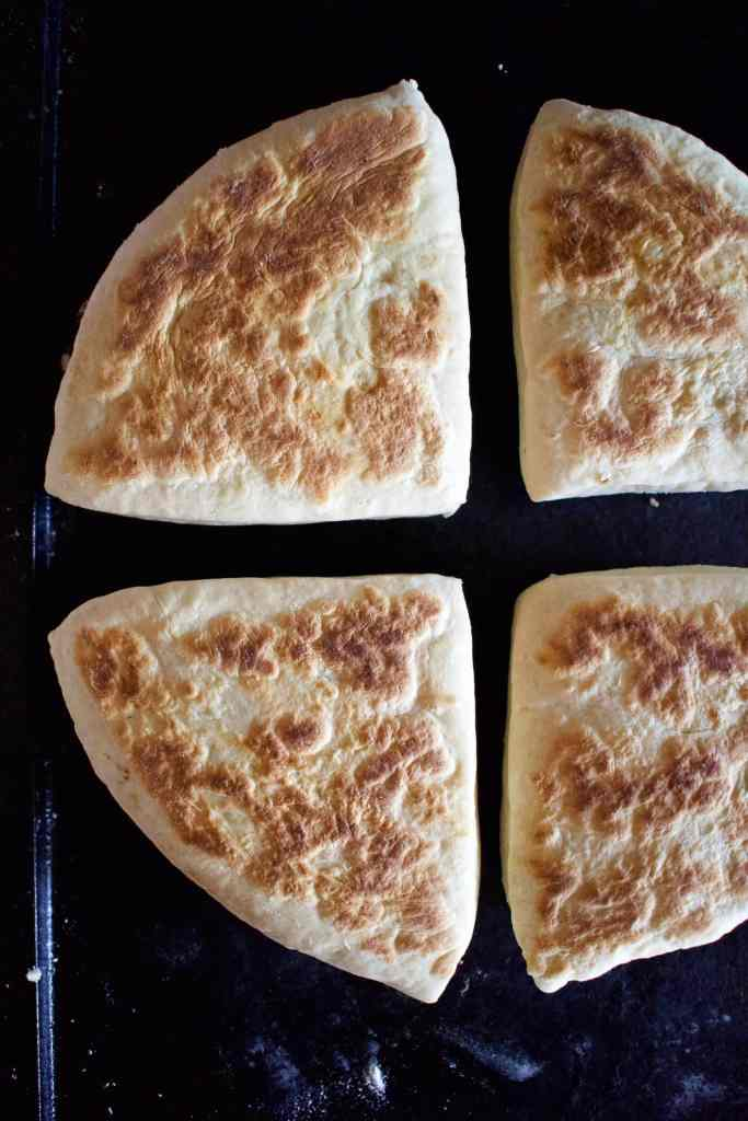Traditional Soda Bread cooking on a dry griddle