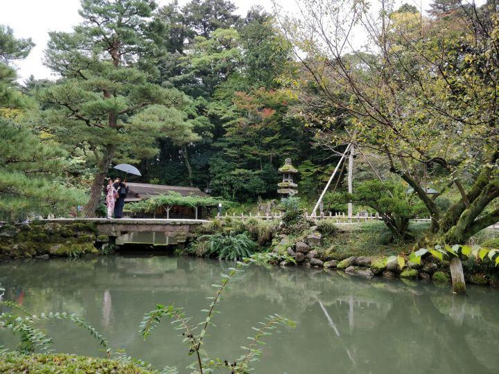 Puisto Kanazawassa Japanissa
