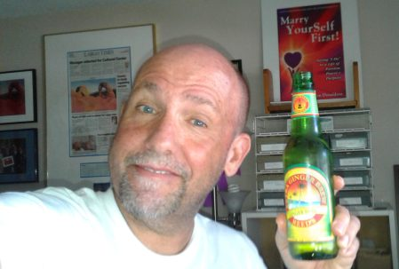 Ken Donaldson and his favorite Ginger Brew drink