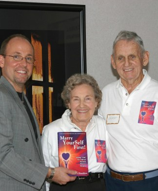 Ken Donaldson with his Mom and Dad in 2006 at the Marry YourSelf First book launch party at Ken's office in Seminole, Florida