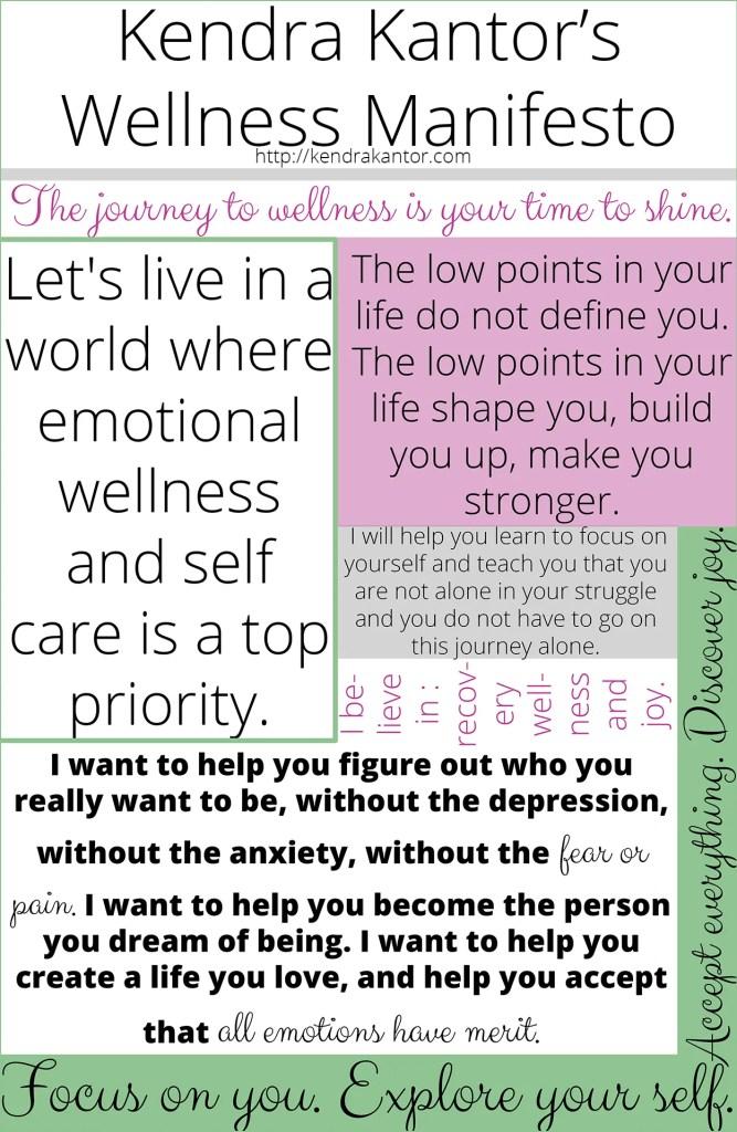 Kendra Kantor's Wellness Manifesto