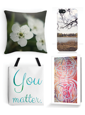 art prints, phone cases, pillow cases, tote pages and  greeting cards from Kendra Kantor
