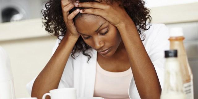AA Woman Fearful