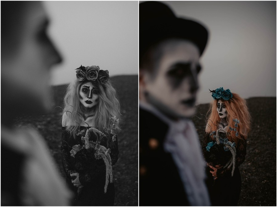 Happy-Halloween, Corpse, Corpse-Bride-Groom, Bride-and-Groom, Face-Paint, Halloween-Photos, Halloween-Lovers, Halloween-photoshoot, Styled-Shoot, Creative-Shoot, Face-Makeup, Dead-Couple, Corpse-Bride, Corpse-Couple, Seattle-Photographer,