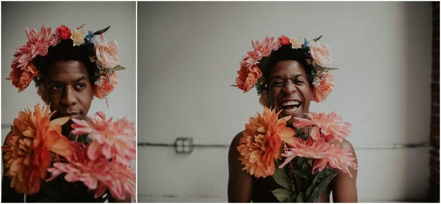 seattle, seattle-boudoir, seattle-boudoir-photographer, Dudeoir-photographer, Dudeoir-photos, Dudeoir, Seattle Dudeoir Photographer, Dudeoir-photography, pioneer-square-boudoir, dudeoir-photography, dudeoir-inspiration, guys, seattle-dudeoir-photography, Red-heels, Queer, queer-dudeoir, album-session, album-cover, seattle-musician, seattle-music, musician-portraits, flower-crown,