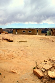 A dried up water reservoir on Acoma Pueblo in New Mexico. (Photo/Kendra Yost)