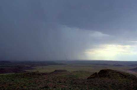 A twister in the Painted Desert in the Petrified Forest National Monument. Photo/Kendra