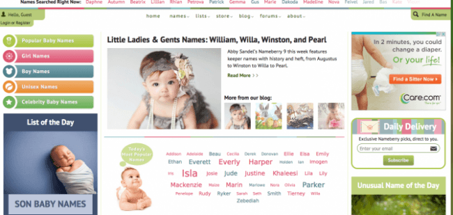 The Nameberry Home Page