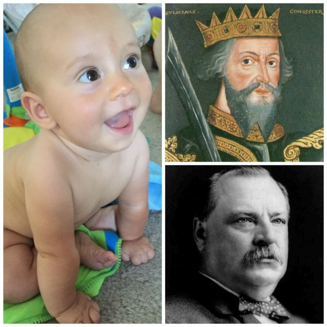 William the Conqueror, Charlie, and Grover Cleveland: do you spot any resemblance?