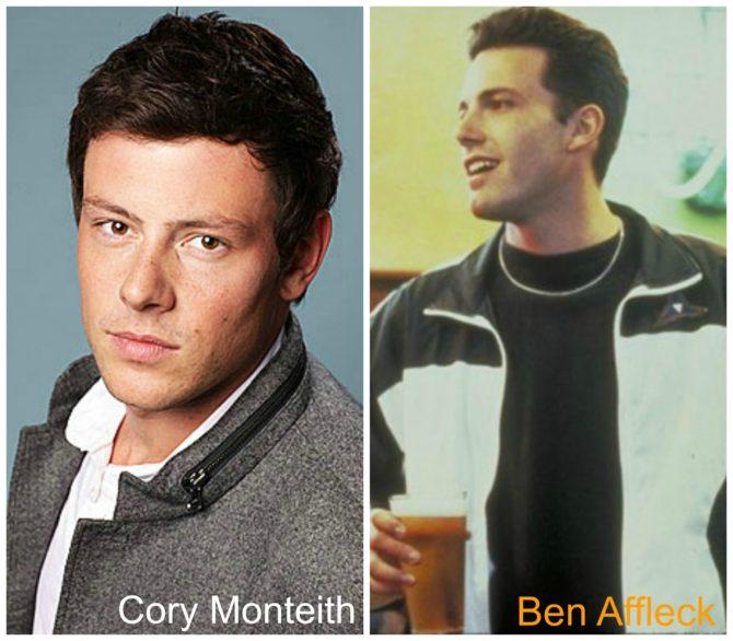 Cory Monteith Ben Affleck Twins!