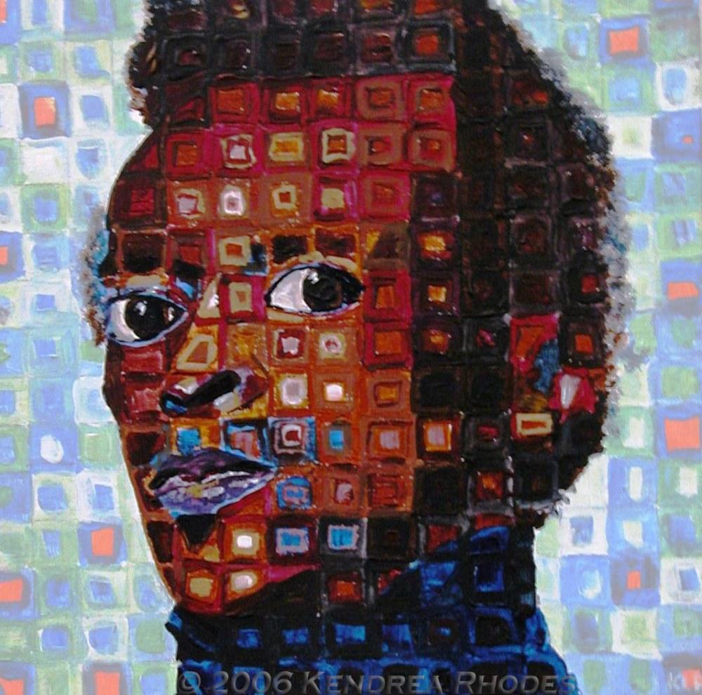 Mile Davis Jnr Acrylic on board by Kendrea Rhodes