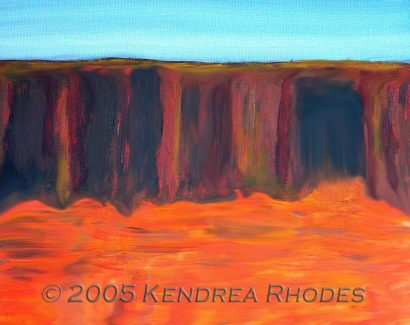 Top end - Acrylic on canvas©2005 Kendrea Rhodes all rights reserved www.kendreart.com