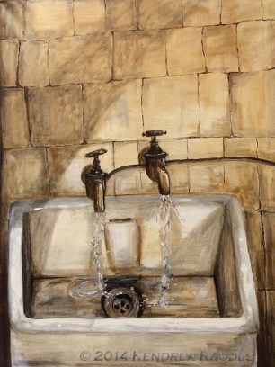 Water Shortage - oil on canvas ©2014 Kendrea Rhodes all rights reserved www.kendreart.com