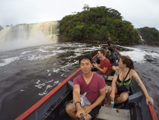 Exploring Salto Sapo in the Canaima Lagoon Venezuela