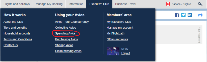 Avios, The Complete Guide to British Airways Avios For Canadians