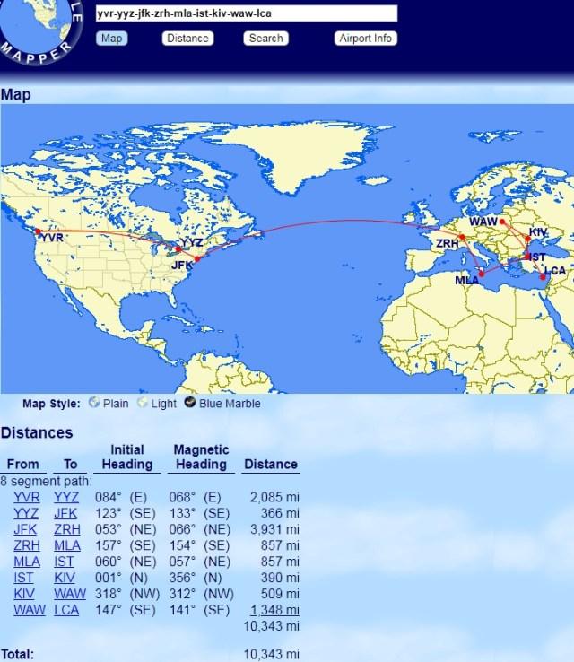 Aeroplan mini-RTW in Europe