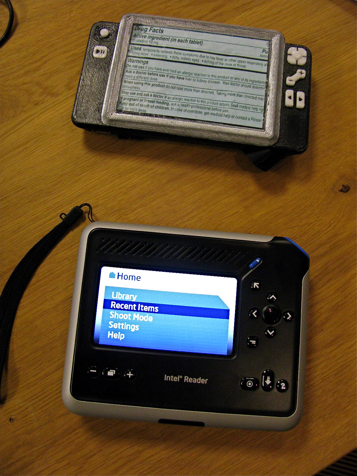 Intel Reader - First Prototype and First Product