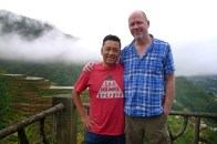 Derek and me at the Banaue rice terraces