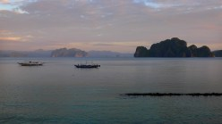 El Nido, Palawan, view from our deck at Miniloc Island