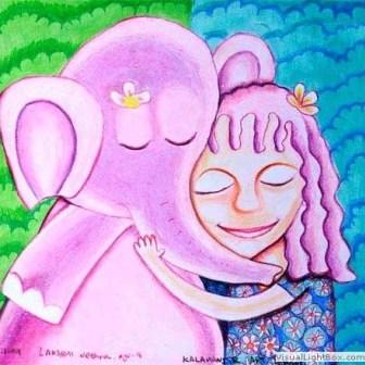 Kenfortes_Girl and Elephant