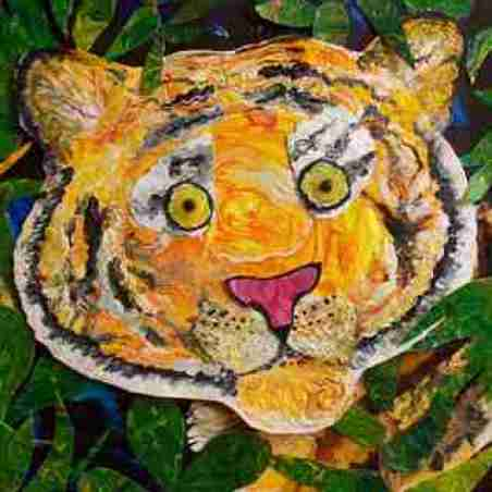 children art Acrylic Painted paper collage_ art classes in bangalore