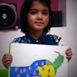 Student Ojasvi - kenfortes Art class Bannerghatta road