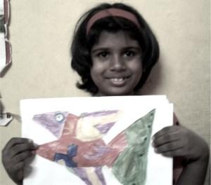 Student tejashwinin kenfortes art class