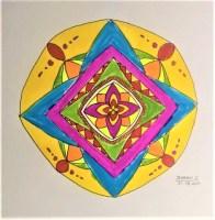 MANDALA ART DRAWING BY JHANAVI