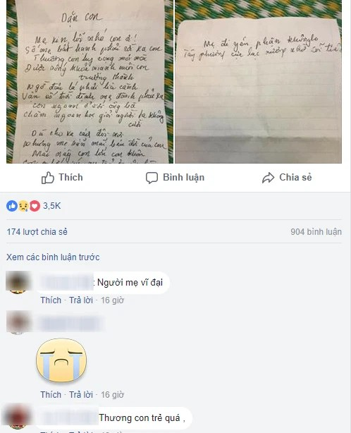 Bức thư của người mẹ đơn thân ung thư viết cho con trai trước khi qua đời: Các bạn có mẹ có cha, thương con côi cút nghĩ mà xót đau - Ảnh 2.